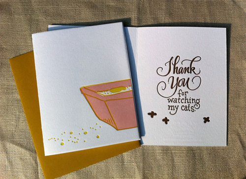 Cat Sitter Thank You Card