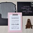 Pink & Black Bridal Shower Invitations