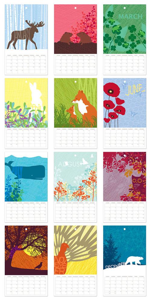 Flora & Fauna Wall Calendar