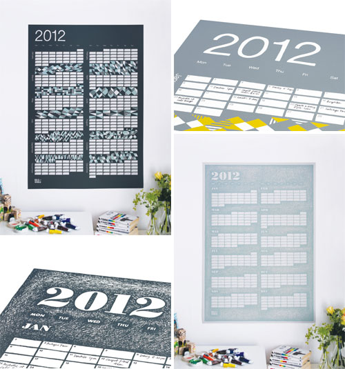 Screen Printed 2012 Calendars