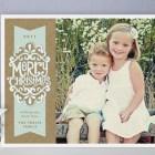 Kraft Ribbon Holiday Photo Cards