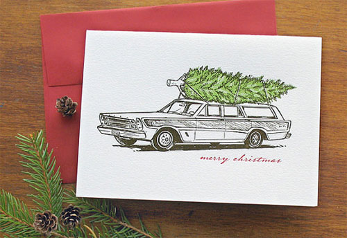 Echo Letterpress Christmas Cards