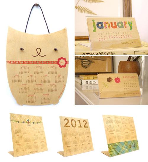 Wood Veneer 2012 Calendars