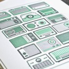 Retro Radio Letterpress Prints