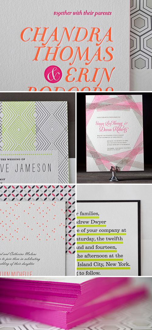 Neon Wedding Invitations