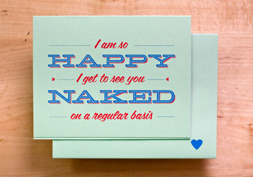 Happy When You're Naked Card