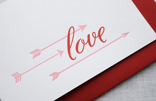 Missive Letterpress Love Card