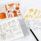 Foil Stamped Recipe Cards