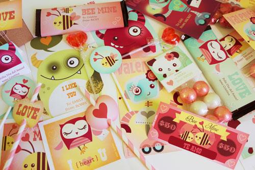 Valentine Cards Party Printables Paper Crave – Japanese Valentine Cards