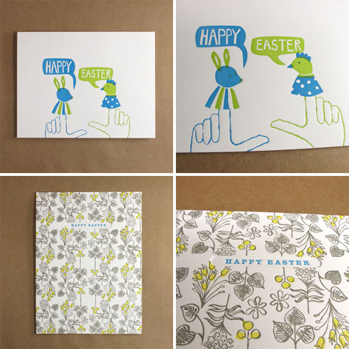 Egg Press Easter Cards