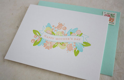 Honizukle Letterpress Mother's Day
