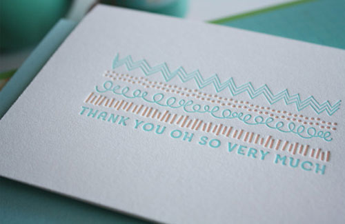 Thank You Letterpress Card