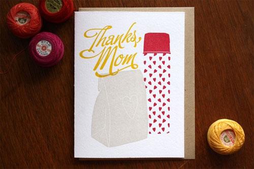 Thanks, Mom Letterpress Card