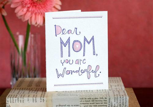 Mom You're Wonderful Card