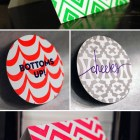 Neon Letterpress Cards + Coasters