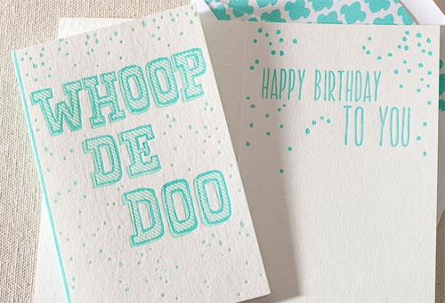 Whoop De Doo Birthday Card