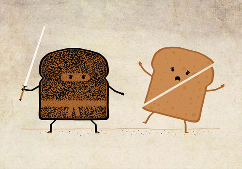 Ninja Toast Illustration