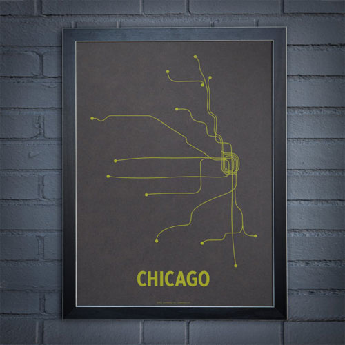 Chicago Subway Line Poster