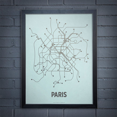 Paris Subway Line Poster
