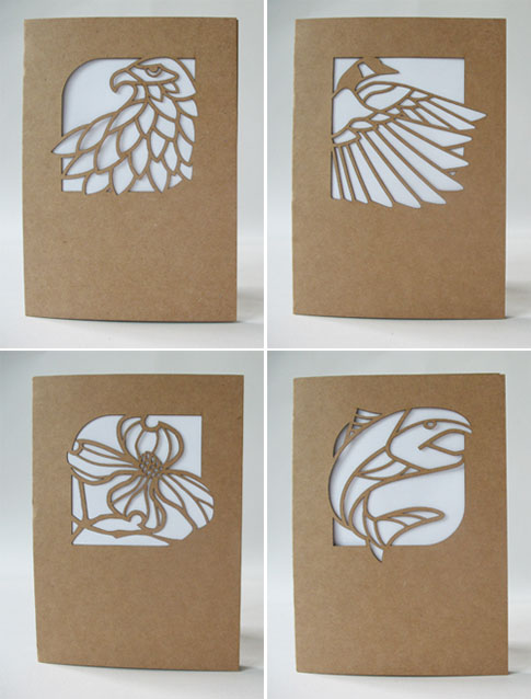 Laser Cut Nature-Themed Cards