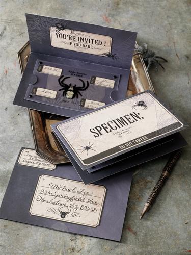 Martha Stewart Crafts Halloween Specimen Box Invitations