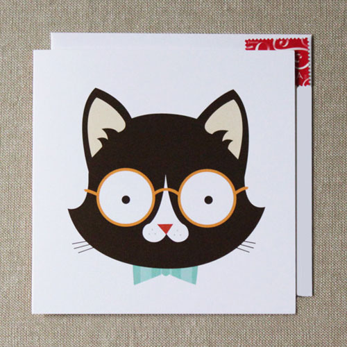 4 Eyes 9 Lives Cat Card