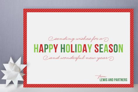 Simple Season Business Holiday Cards by Sydney Newsom