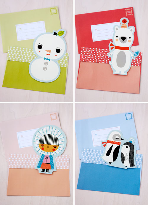 Frosty Friends Notecards