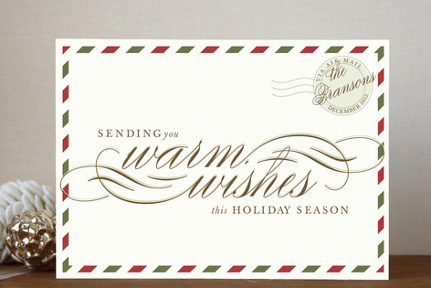 Retro Airmail Holiday Cards
