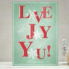 Love & Joy Snowflakes Holiday Cards