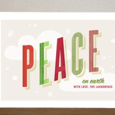Peaceful Flurry Holiday Cards