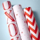 Red + White Gift Wrap by Carrie O'Neal & Igloo Letterpress