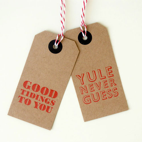 Letterpress Kraft Gift Tags