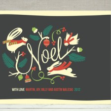 Woodland Noel Holiday Cards