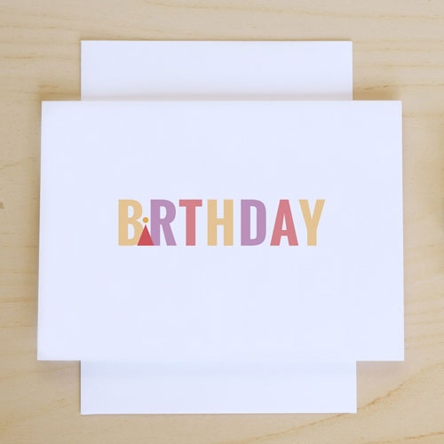 Pretty Paper Please Birthday Card