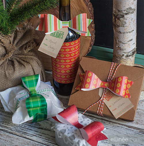Free Printable Holiday Bows & Gift Tags