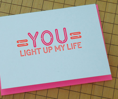 a. favorite Neon Valentine's Day Card