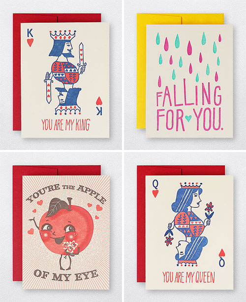 Hello! Lucky Letterpress Love Cards