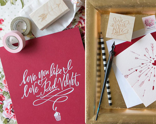 Lindsay Letters Art Prints & Rubber Stamps