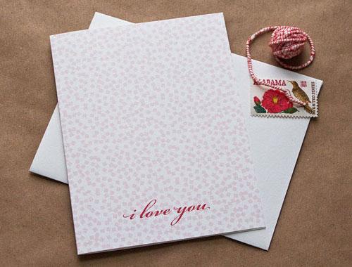 Confetti, I Love You Card