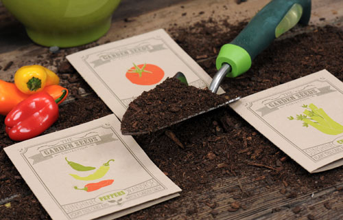 Plantable Seed Packet Letterpress Cards