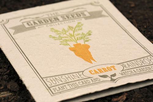Plantable Carrot Card