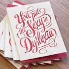 Sexy Dyslexia Letterpress Card