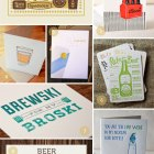 Beer Themed Paper Goods as seen on papercrave.com