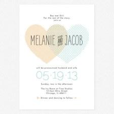 Heart to Heart Wedding Invitations