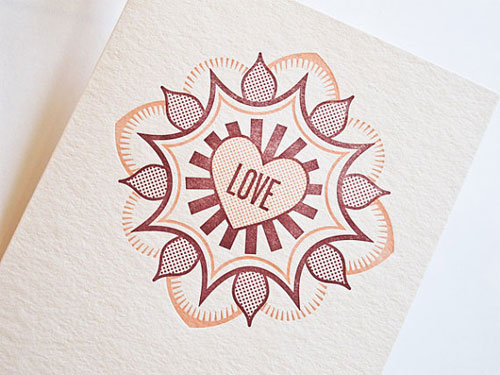 Letterpress Love Card by Pressbound