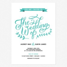 Lovely Lettering Wedding Invitations