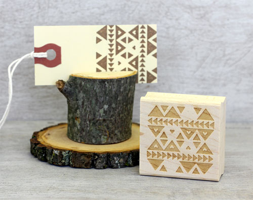 Pattern Rubber Stamp