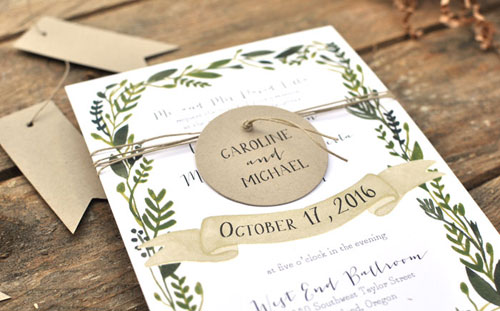 Nature Inspired Wonderland Wedding Invitations