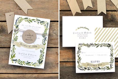 Wonderland Wedding Invitations
